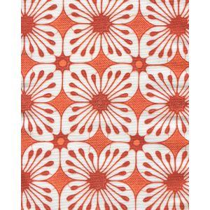 8250-05 BARBADOS BATIK Orange Burnt Orange on White Quadrille Fabric