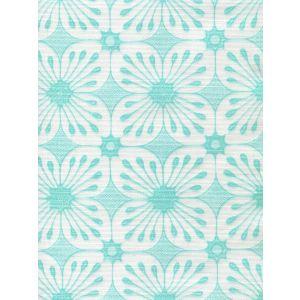 8250-07 BARBADOS BATIK Turquoise on White Quadrille Fabric