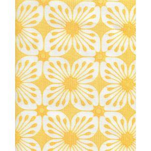 8250-06 BARBADOS BATIK Yellow on White Quadrille Fabric