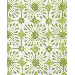 8250-04 BARBADOS BATIK Jungle Green Lime on White Quadrille Fabric