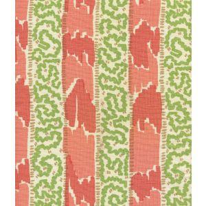 5060-06 BIJOU STRIPE New Shrimp Greens Camel Quadrille Fabric