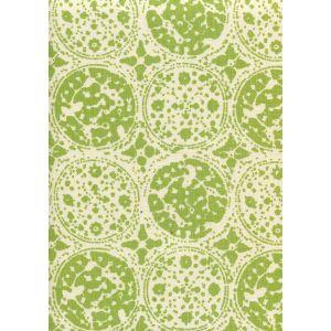 7170-07 BODRI BATIK Jungle Green on Tint Quadrille Fabric