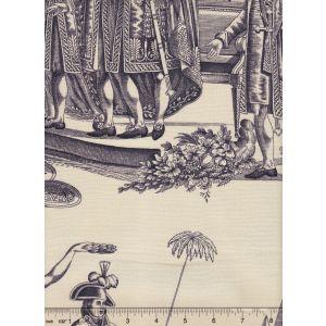 2428-03 BONAPARTE TOILE Noir Quadrille Fabric