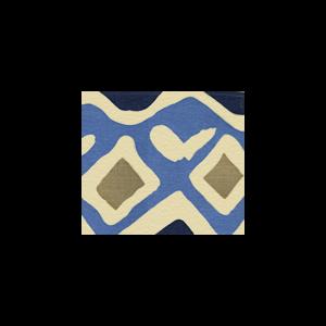 AC103-14WSUN CAP FERRAT Multi Blues Quadrille Fabric