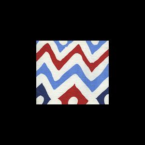 AC103-20WSUN CAP FERRAT Navy Blue Red Quadrille Fabric