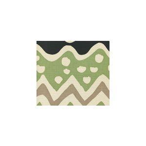 AC103-19SUN CAP FERRAT Jungle Green Taupe Quadrille Fabric