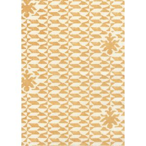 302234F CARLO II Maize on Curtain Weight Quadrille Fabric
