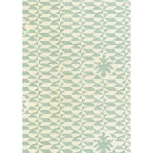 302239F CARLO II Teal on Curtain Weight Quadrille Fabric