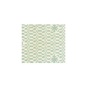 302239FSUN CARLO II Teal  Quadrille Fabric
