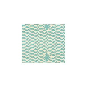 302235FSUN CARLO II Venice Blue Quadrille Fabric
