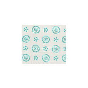 2210-01SUN CECIL Turquoise on White Quadrille Fabric