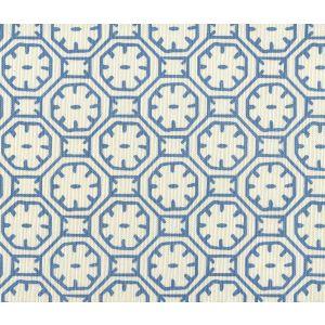 8150-04 CEYLON BATIK Medium Blue on Tint Quadrille Fabric