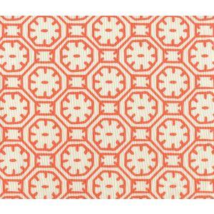 8150-07 CEYLON BATIK Orange on Tint Quadrille Fabric