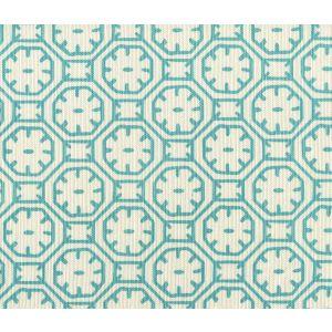 8150-01 CEYLON BATIK Turquoise on Tint Quadrille Fabric