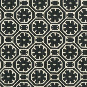 8155-11 CEYLON BATIK REVERSE Black on Tint Quadrille Fabric