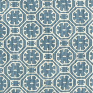 8155-04 CEYLON BATIK REVERSE Medium Blue on Tint Quadrille Fabric