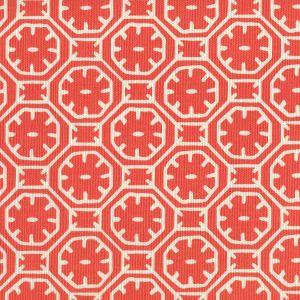 8155-07 CEYLON BATIK REVERSE Orange on Tint Quadrille Fabric