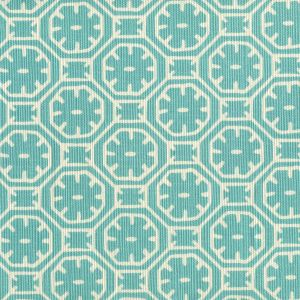 8155-01 CEYLON BATIK REVERSE Turquoise on Tint Quadrille Fabric