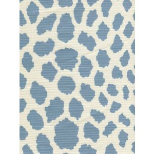 306360F-04 CHEETAH Windsor Blue on Tint Quadrille Fabric