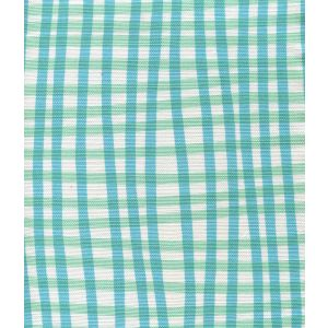 AC105-3WLC COUNTRY CHECK Turquoise Aqua on White Quadrille Fabric