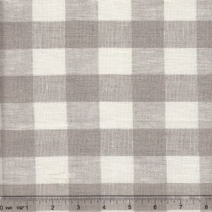 010801T COUNTY CHECK Natural White Quadrille Fabric