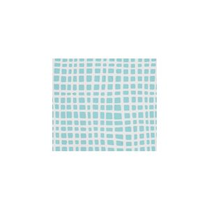 AP403-03 CRISS CROSS Turquoise on Tint Quadrille Fabric
