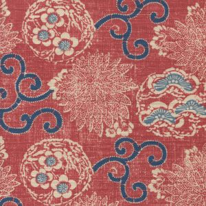 2439-03 FAIRIE ENCHANTEE TOILE Corail Quadrille Fabric