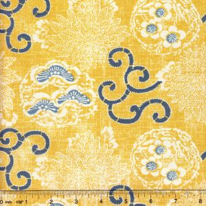 2439-02 FAIRIE ENCHANTEE TOILE Saffron Quadrille Fabric