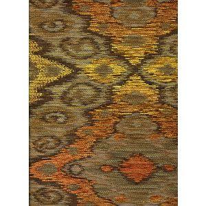 010981T FANTASIA Multi Taupe Orange Brown Quadrille Fabric