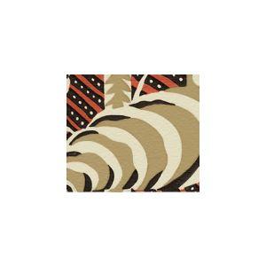 AC100-10 FERNS Cinnabar Brown on Ecru Quadrille Fabric