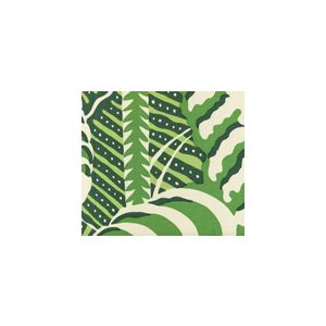 AC100-11 FERNS Greens on Tint Quadrille Fabric
