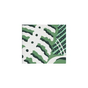 AC100SUN-11 FERNS Greens Quadrille Fabric