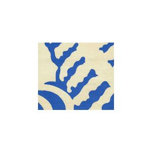 AC101-36 FERNS UNI French Blue on Tint Quadrille Fabric