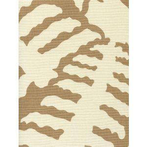 AC101-35 FERNS UNI Camel II on Tint Quadrille Fabric