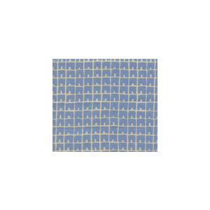 4045-09 FEZ II French Blue on Tan Quadrille Fabric