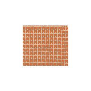 4045-12 FEZ II Orange on Tan Quadrille Fabric