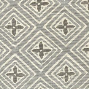 2500-02 FIORENTINA TWO COLOR Grey Dark Grey Quadrille Fabric