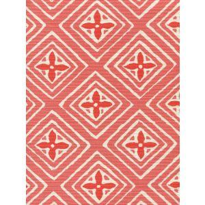 2500-08 FIORENTINA TWO COLOR Shrimp Orange Quadrille Fabric