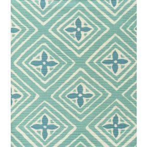 2500-09 FIORENTINA TWO COLOR Turquoise Dark Turquoise Quadrille Fabric