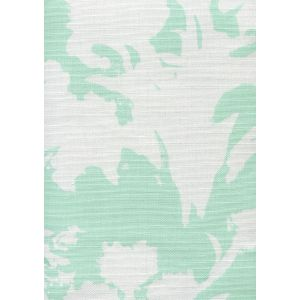 8320-03 FLOWERS II BACKGROUND Aqua on White Custom Only Quadrille Fabric