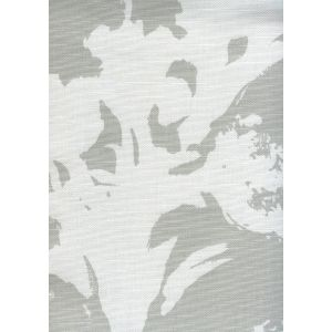 8320-07 FLOWERS II BACKGROUND Grey on White/ Custom Only Quadrille Fabric
