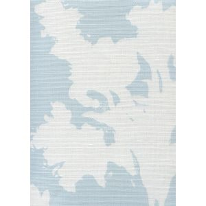 8320-02 FLOWERS II BACKGROUND Windsor Blue on White Custom Only Quadrille Fabric