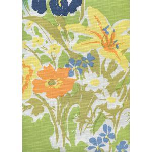 8310-06 FLOWERS II Jungle Yellow Orange Custom Only Quadrille Fabric