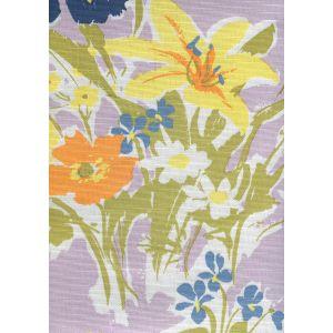 8310-04 FLOWERS II Lavender Orange Yellow Custom Only Quadrille Fabric