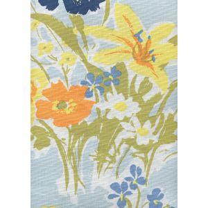 8310-02 FLOWERS II Windsor Yellow Orange Custom Only Quadrille Fabric