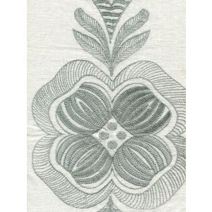020150T-E FOLKSTONE EMBROIDERY Ice Blue Quadrille Fabric