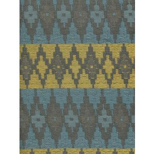 020191T FYRESTONE Grey Turquoise Yellow Quadrille Fabric