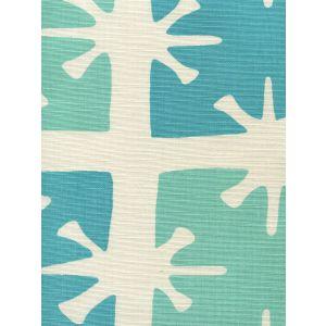 8095-04 GEORGIA LARGE SCALE Aqua Turquoise on Tint Custom Only Quadrille Fabric