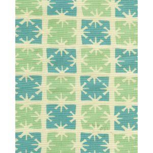 8090-04 GEORGIA SMALL SCALE Aqua Turquoise on Tint Quadrille Fabric