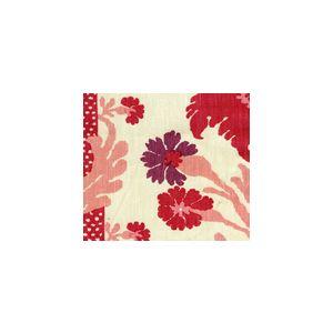 302040F-CU HENRIOT FLORAL Pinks on Ecru Quadrille Fabric
